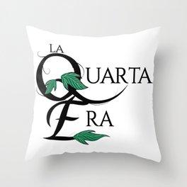 LaQuartaEra_White Throw Pillow