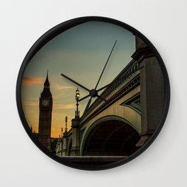 Big Ben Sunset Wall Clock