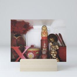 Red Knick Knacks in Copenhagen Mini Art Print