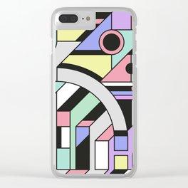 De Stijl Abstract Geometric Artwork Clear iPhone Case