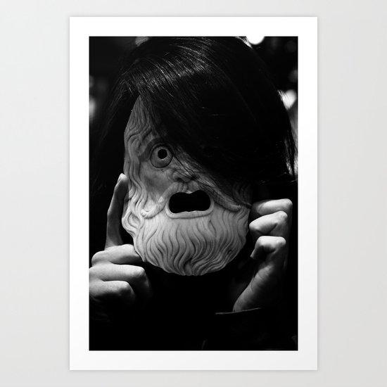 Masked Figure  Art Print