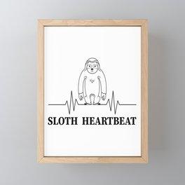 sloth sloth heartbeat heartbeat animal slow Framed Mini Art Print