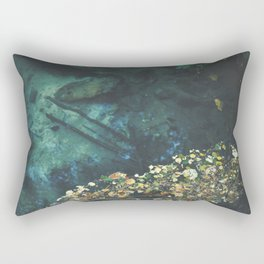 Leaf rug on water Rectangular Pillow