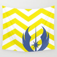 jedi Wall Tapestries featuring Star Wars Jedi Chevrons by foreverwars