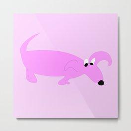 PURPLE SNIFFER DOG Metal Print
