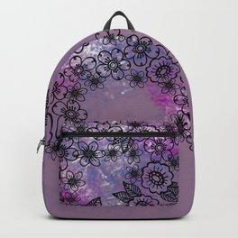 Flowers Watercolor purple Backpack
