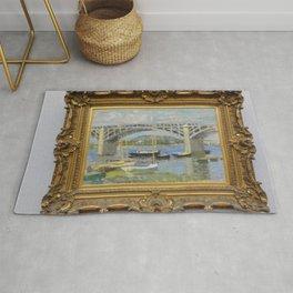 Claude Monet - Le Pont sur la Seine à Argenteuil.jpg Rug