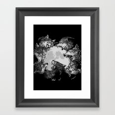 Moon Eaters Framed Art Print