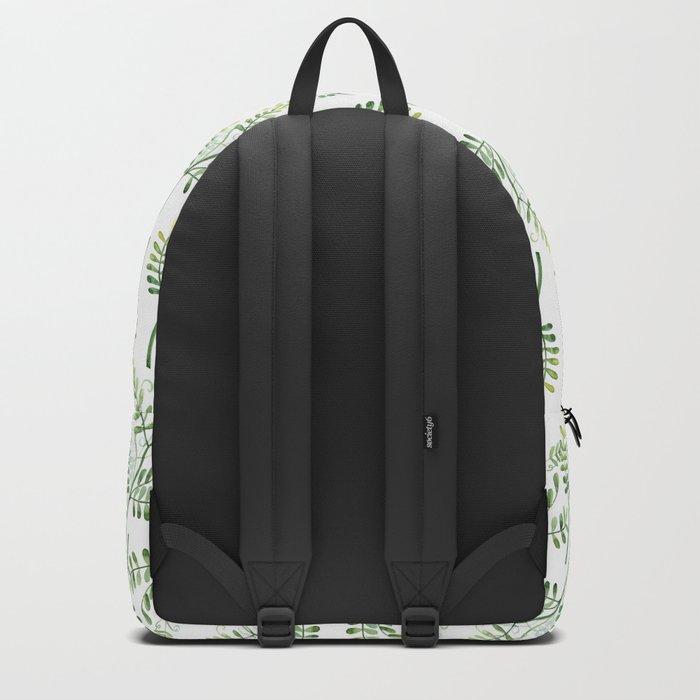 Forest Ferns Pattern Backpack