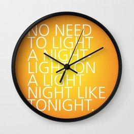Light a Nightlight – Tongue Twisters Wall Clock