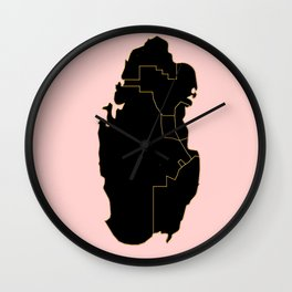 Qatar map Wall Clock