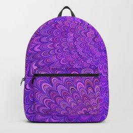 Purple Mandala Bird Feathers Backpack
