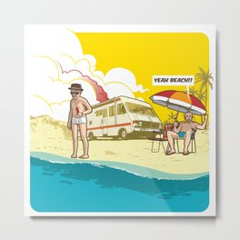 Yeah beach! 2.0 Metal Print