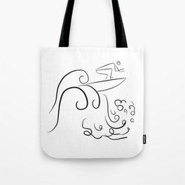 Surf Uncertainty Tote Bag