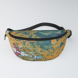 Orange and Green Flora Fanny Pack