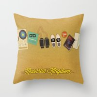 moonrise kingdom Throw Pillows featuring Moonrise Kingdom by Lindsey Pudlewski