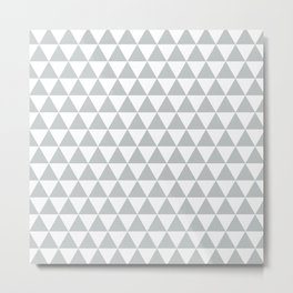 Light Grey Triangle Pattern Metal Print