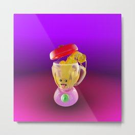 Lemmon juice Blender Metal Print