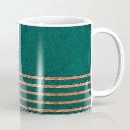 EMERALD COPPER GOLD BRASS STRIPES Coffee Mug