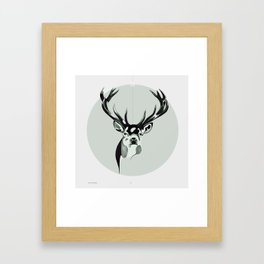Le Cerf Pensive Framed Art Print