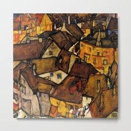 """Egon Schiele """"Krumau - Crescent of Houses (The small City V)"""" Metal Print"""