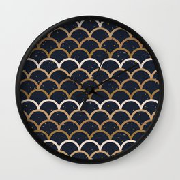 Fish Scale dark Wall Clock