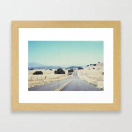 A Bump In The Road Framed Art Print