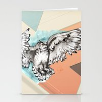 mcfly Stationery Cards featuring Owl McFly by carographic by carographic watercolor portraits