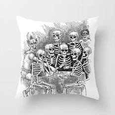 Gathered Remains Throw Pillow