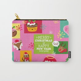 Retro Christmas Carry-All Pouch