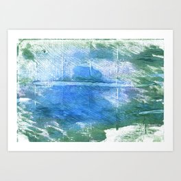 Wintergreen Dream abstract watercolor Art Print