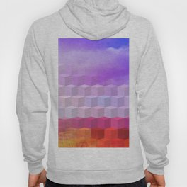 Ultra Surreal Countryside Violet Rainbow Hoody