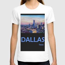Retro Travel Poster Dallas Texas T-shirt