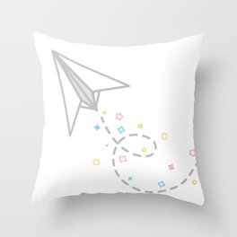 Dreamy Paper Planes Throw Pillow
