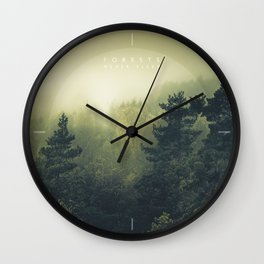 Forests never sleep Wall Clock