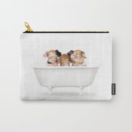 3 Little Pigs in a Vintage Bathtub (c) Carry-All Pouch