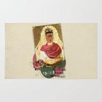 frida kahlo Area & Throw Rugs featuring Frida Kahlo by Selman HOŞGÖR