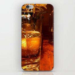 SPARKLING GOLDEN WATER iPhone Skin