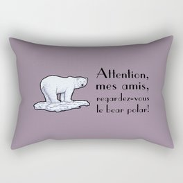 Le bear polar Rectangular Pillow