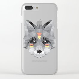 Boho poly fox Clear iPhone Case