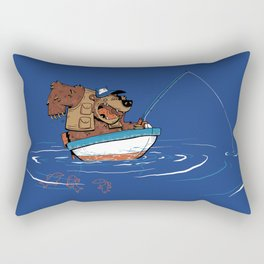 Bear Fishing Rectangular Pillow