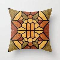 sacred geometry Throw Pillows featuring Sacred geometry - Voronoi by Enrique Valles