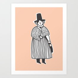 Welsh Lady Art Print