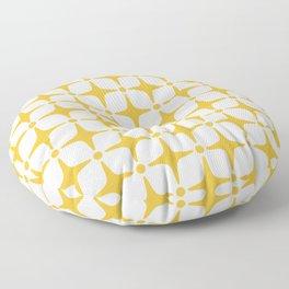 Mid Century Modern Star Pattern Yellow Floor Pillow
