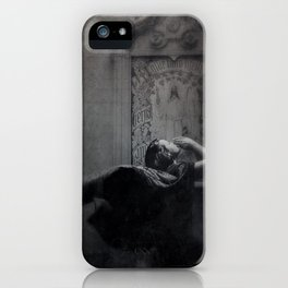 Slytherin Inspired Gothic Dark Angel Black and White iPhone Case