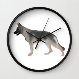 German Shepherd: Tan Sable Wall Clock