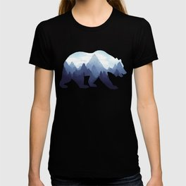 Bear Double Exposure Surreal Wildlife Animal Grizzly Wilderness Outdoors T-shirt