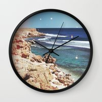 dolphins Wall Clocks featuring Dolphins by Mermaid's Coin Surf Art * by Hannah Kata
