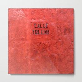 Red wall - Casa Toledo street photography - Arequipa #eclecticart Metal Print