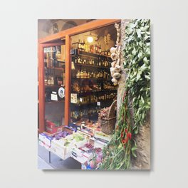Florence Wine Shop #Photography #Italy #Firenze #Florence Metal Print